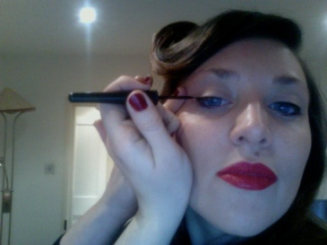 Foundation- Chanel Pro Lumiere (discontined, sob) Lipstick and Liquid Liner- Rimmel